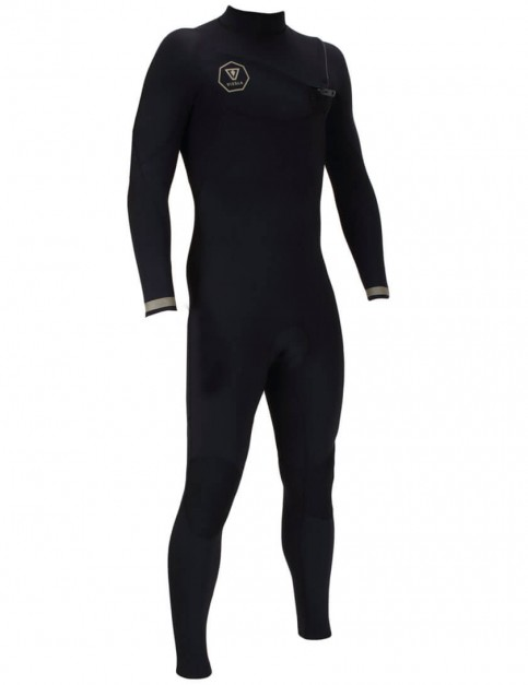 Vissla 7 Seas Chest Zip 5/4mm wetsuit 2017 - Black with Gold