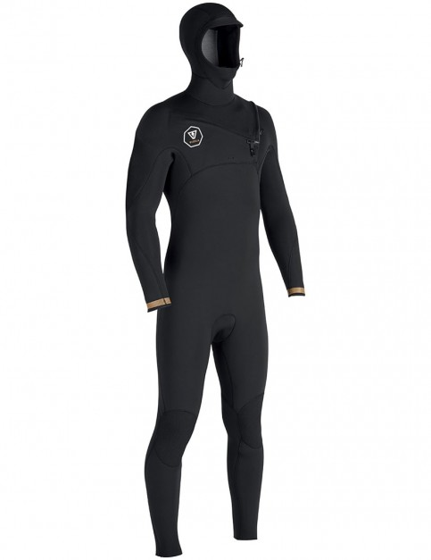 Vissla 7 Seas Chest Zip 5/4/3mm Hooded wetsuit 2017 - Black with Gold