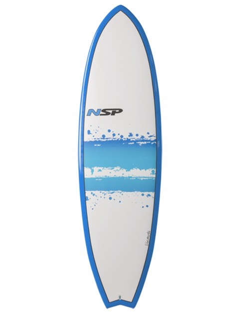 NSP Elements Fish surfboard 7ft 4 - Blue