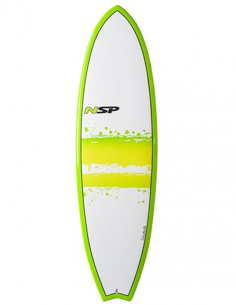 NSP Elements Fish surfboard 7ft 4 - Green