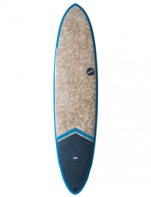 NSP Dreamrider Coco Funboard surfboard 7ft 6 - Tail Dip Blue