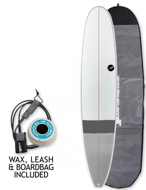 NSP E+ Longboard surfboard 9ft 0 package - Grey