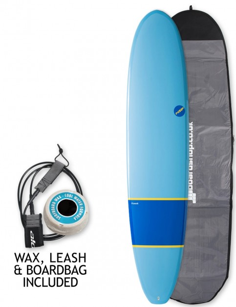 NSP Elements Longboard surfboard package 8ft 6 - Navy