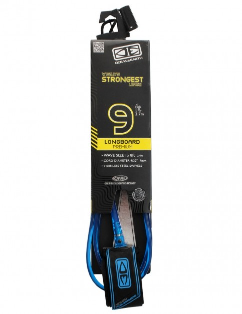 Ocean & Earth Longboard Premium surfboard leash 9ft - Blue