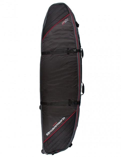 Ocean & Earth Quad Wheel Shortboard surfboard bag 10mm 7ft 0 - Black/Red