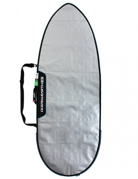 Ocean & Earth Barry Basic Fish Cover Surfboard bag 5mm 5ft 8 - Silver