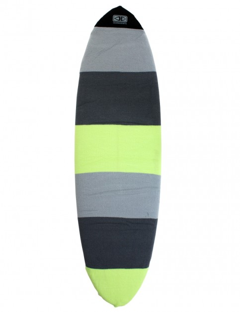 Ocean & Earth Fish Surfboard Stretch Cover 7ft 6 - Lime