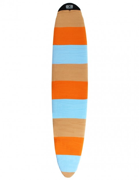 Ocean & Earth Longboard Stretch Cover Surfboard bag 9ft 6 - Orange Solid Stripe