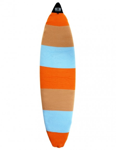 Ocean & Earth Shortboard Stretch Cover Surfboard bag 7ft 0 - Orange Solid Stripe