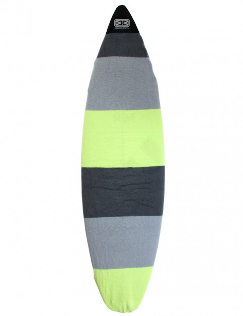 Ocean & Earth Shortboard Surfboard Stretch Cover 5ft 8 - Lime