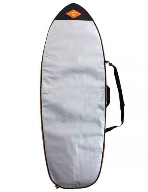 Ocean & Earth Barry Heritage Retro Fish Surfboard bag 5mm 5ft 10 - Silver