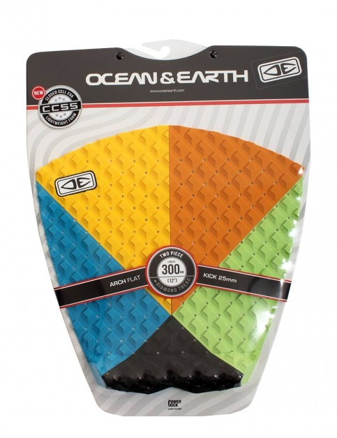 Ocean & Earth 2 Piece surfboard tail pad - Orange