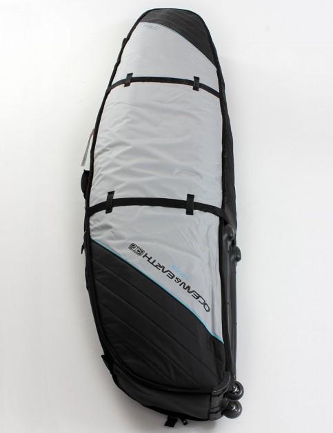 212734919619 Ocean & Earth Triple Wheely Shortboard surfboard bag 10mm 7ft 0 - Silver