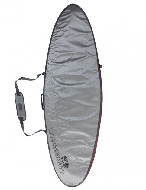 Ocean & Earth New Compact Day Fish surfboard bag 5mm 6ft 8 - Surf Silver