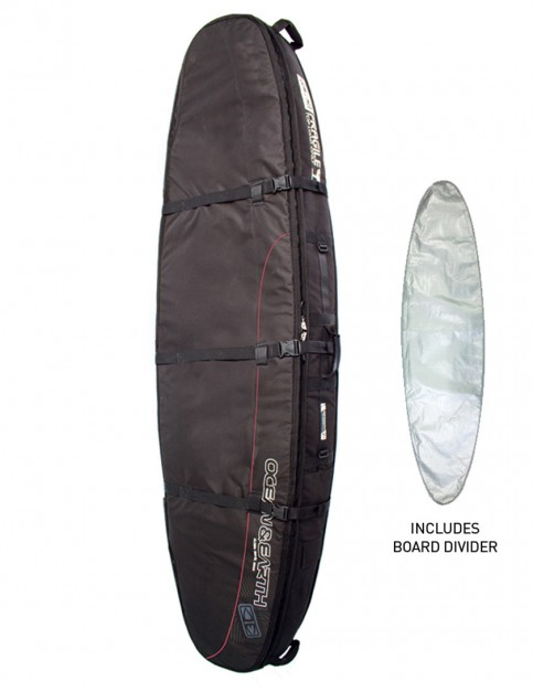 Ocean & Earth Double Coffin Longboard surfboard bag 10mm 9ft 6 - Black
