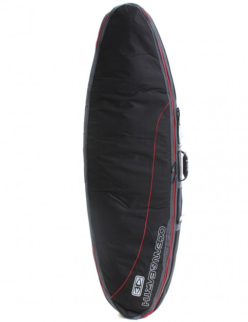 Ocean & Earth Double Compact Shortboard 10mm Surfboard bag 6ft 4 - Black/Red