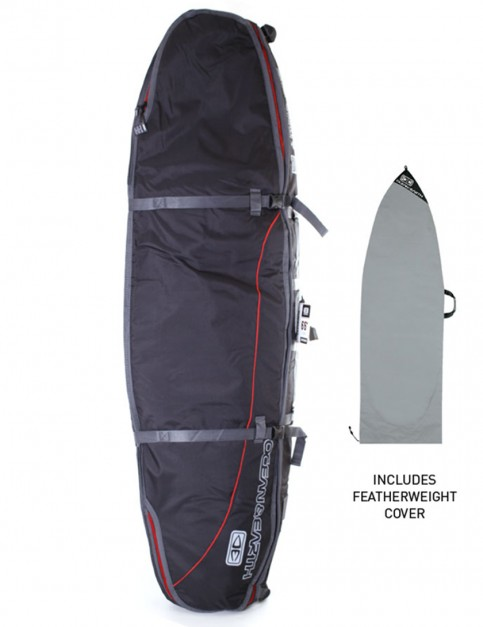 Ocean & Earth Triple Coffin Shortboard surfboard bag 10mm 7ft 6 - Black