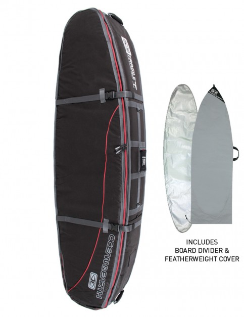 Ocean & Earth Quad Coffin Shortboard surfboard bag 10mm 7ft 0 - Black
