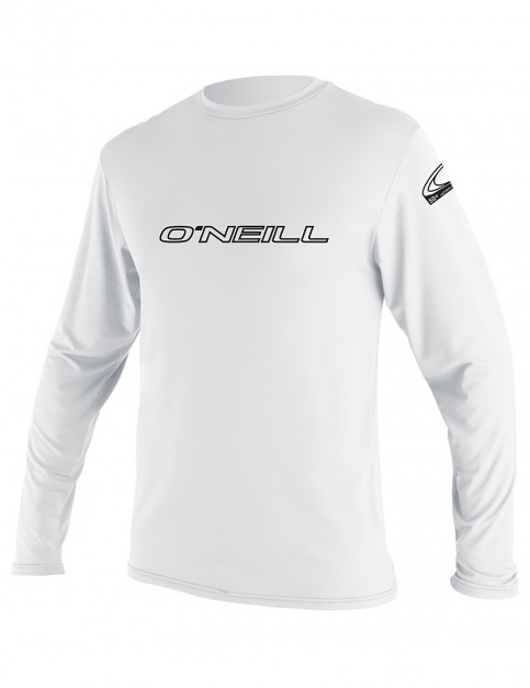 O'Neill Basic Skins Long Sleeve Rash Tee - White