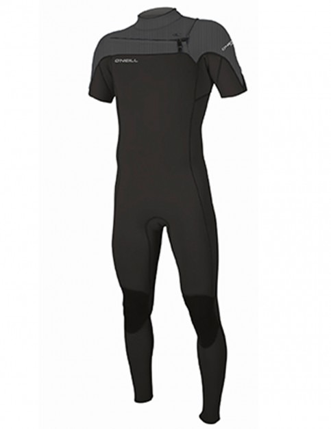 O'Neill Hammer Short Sleeve 2mm wetsuit 2018 - Black/Black/Graphite/Pin