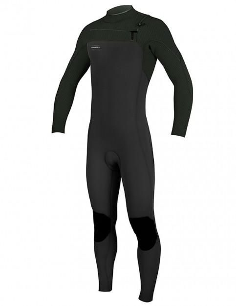 O'Neill  Hyperfreak Chest Zip 3/2mm wetsuit 2018 - Black/Dark Olive