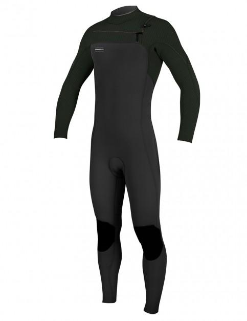 O'Neill HyperFreak Chest Zip 4/3mm wetsuit 2018 - Black/Dark Olive