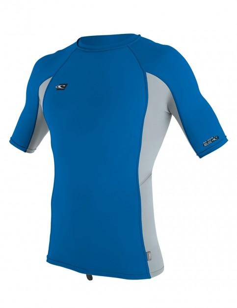 O'Neill Premium Skins Short Sleeve Rash Vest - Ocean/Cool Grey