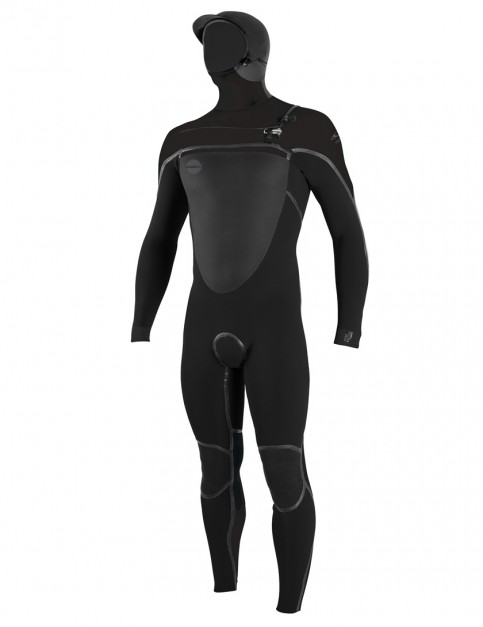O'Neill Psycho Tech 6/4mm Hooded wetsuit 2019 - Black/Black