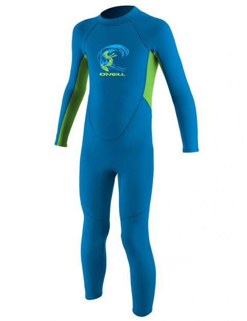 O'Neill Toddler Reactor 2mm Wetsuit 2018 - Brite Blue/Dayglo