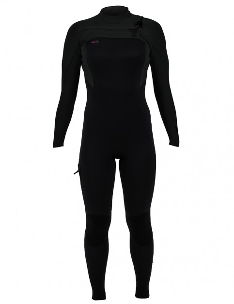 ONeill Ladies Hyperfreak Chest Zip 3/2mm Wetsuit 2019 - Black/Black