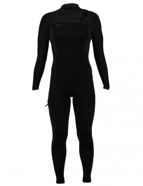 ONeill Ladies Hyperfreak Chest Zip 4/3mm Wetsuit 2019 - Black/Black