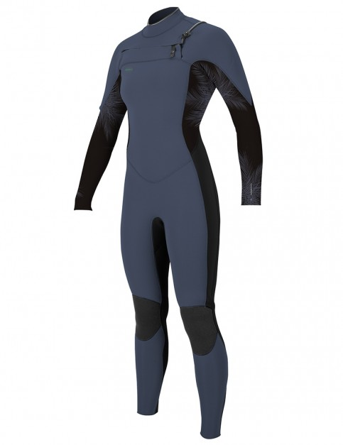 O'Neill Ladies Hyperfreak Chest Zip 5/4mm wetsuit 2019 - Mist/Black/Harbour Mist