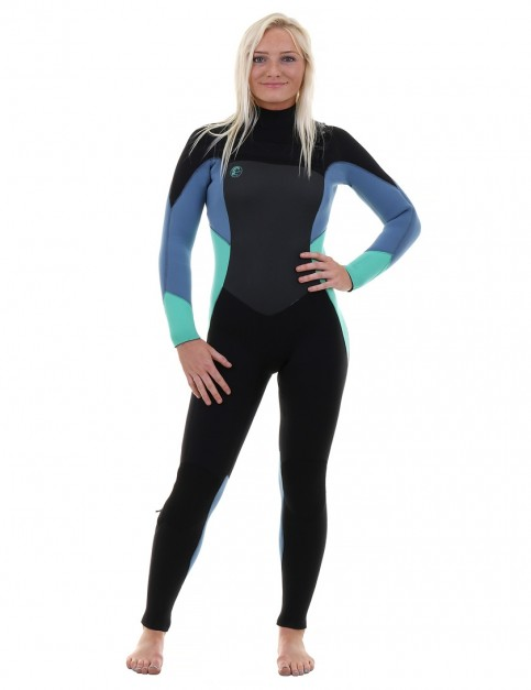 O'Neill Ladies O'Riginal Chest Zip 5/4mm wetsuit 2018 - Black/Seaglass/Dusty Blue