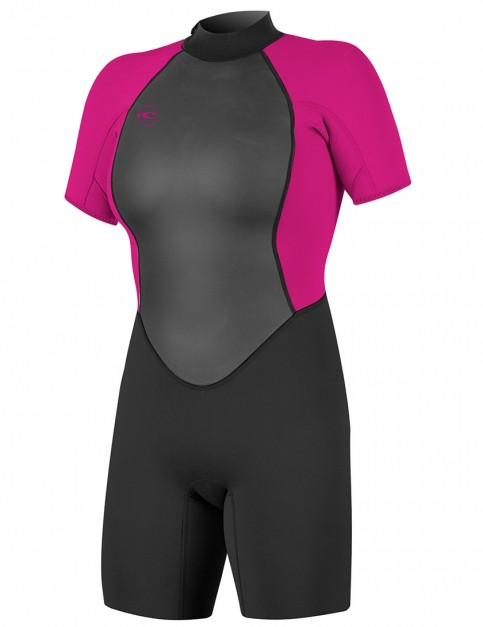 O'Neill Ladies Reactor II Shorty 2mm wetsuit 2018 - Black/Berry