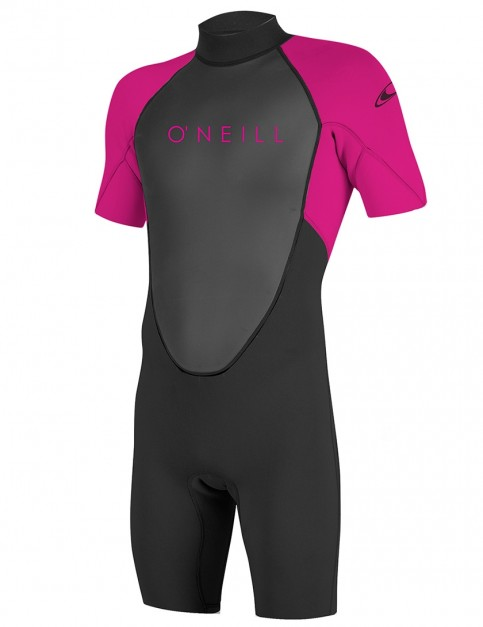 O'Neill Girls Reactor II Shorty 2mm wetsuit 2018 - Black/Berry