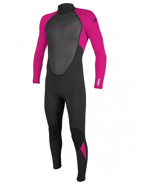 O'Neill Girls Reactor II 3/2mm wetsuit 2018 - Black/Berry