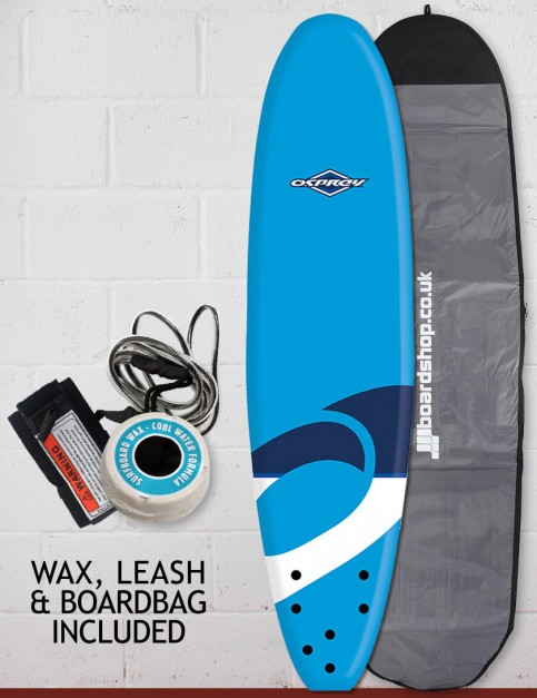 Osprey Mini Mal Foam surfboard package 8ft 0 - Logo Blue