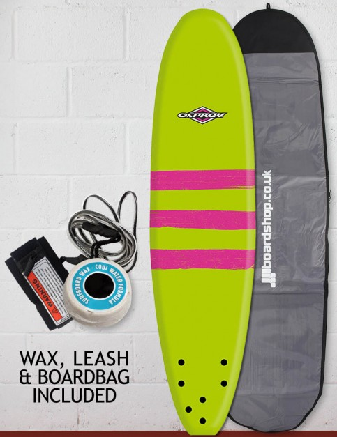 Osprey Mini Mal Foam surfboard package 7ft 0 - Triband Green