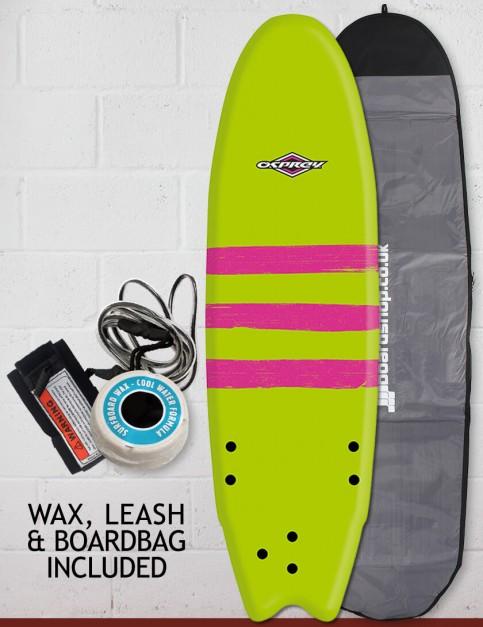 Osprey Fish Foam surfboard package 6ft 0 - Triband Green