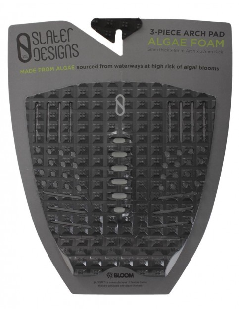 Slater Designs 3-Piece Arch Surfboard Tail Pad - Black