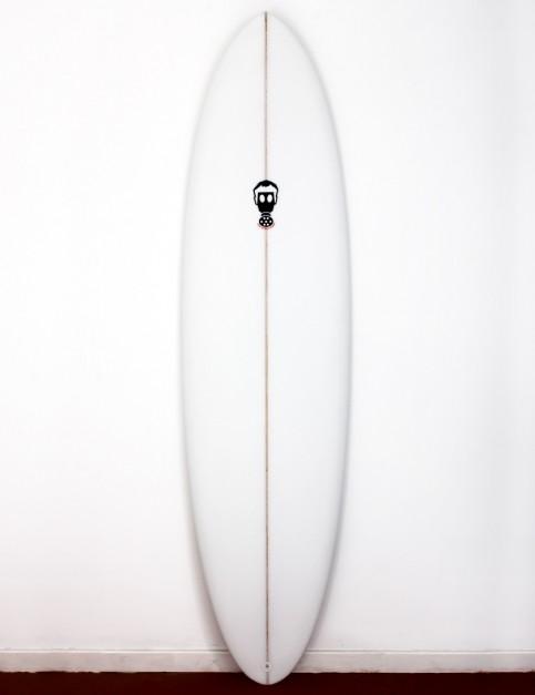 Mark Phipps One Bad Egg surfboard 6ft 4 FCS II - White
