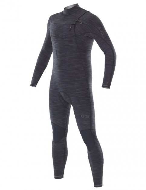 Picture Equation Chest Zip 3/2mm wetsuit 2018 - Black Melange