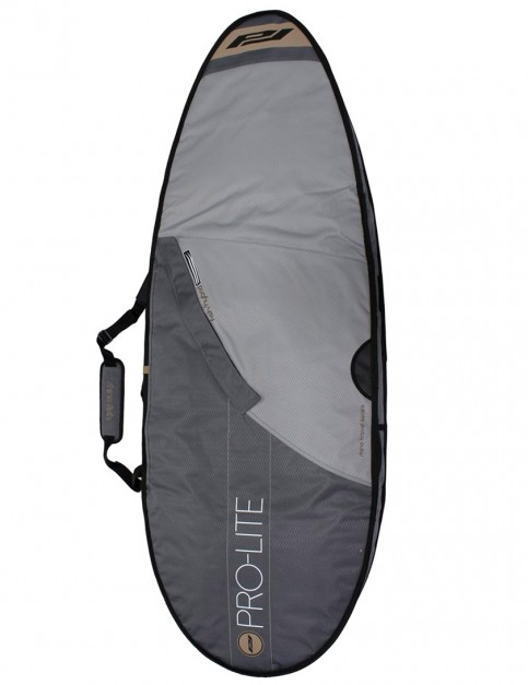 Pro-Lite Rhino Double Travel Fish/Hybrid surfboard bag 10mm 6ft 6 - Grey