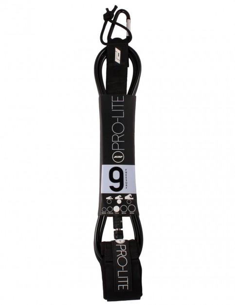 Pro-Lite Freesurf surfboard leash 9ft - Black/Black