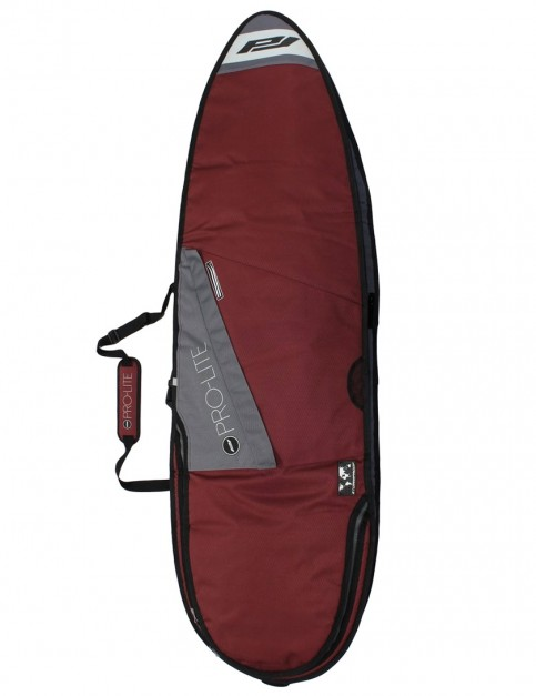 Pro-Lite Smuggler Series Triple Travel Shortboard surfboard bag 10mm 6ft 6 - Maroon