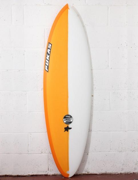 Pukas Original Sixtyniner Surfboard 6ft 1 FCS II - Orange
