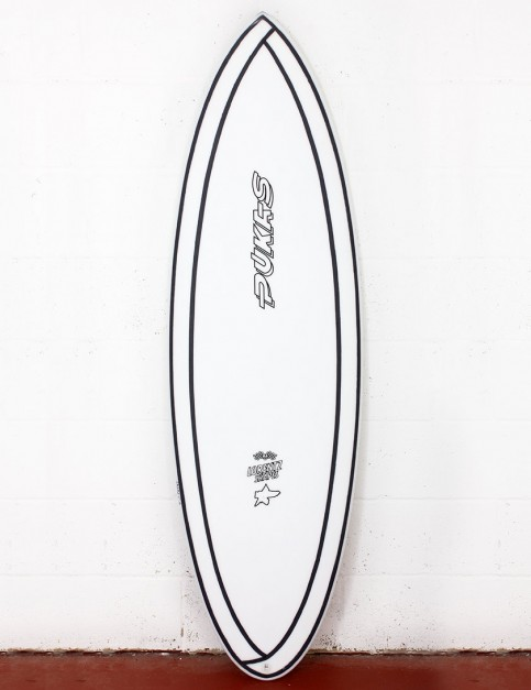 Pukas 69er Step Down surfboard INNCA 5ft 10 FCS II - White