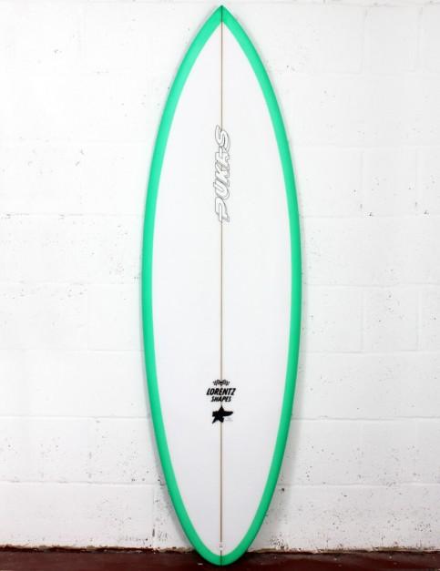 Pukas 69er Pro surfboard 5ft 11 Futures - Green
