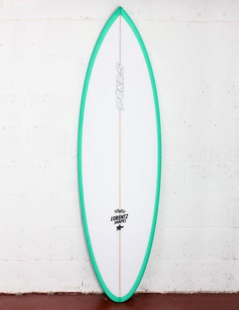 Pukas 69er Pro surfboard 6ft 4 Futures - Green