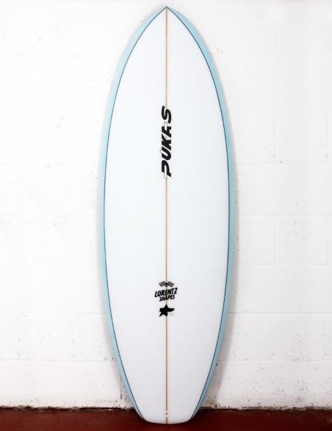 Pukas Heavens Door surfboard 5ft 4 FCS II - Sky Blue